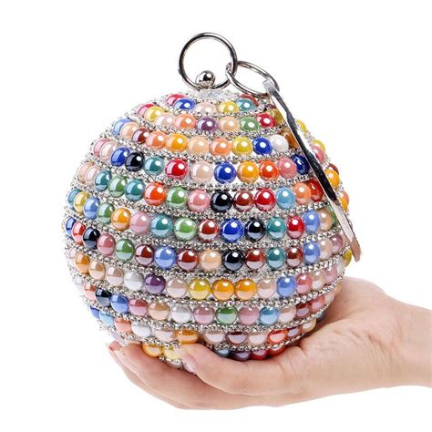 Clutch With Pearl 11 1 E1 1 shape clutch bags beaded pearls evening bag colorful rhinestone evening clutch