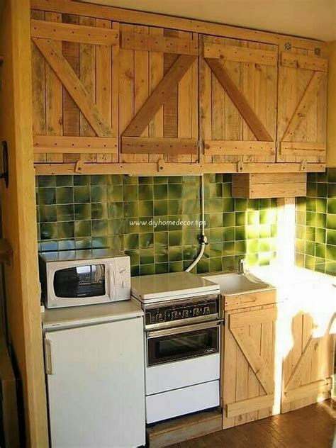 diy pallet kitchen cabinets low cost diy wood pallet crafts that are easy to make