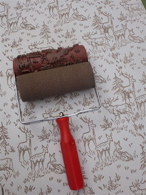 zebra pattern paint roller stag woodland themed patterned paint roller will