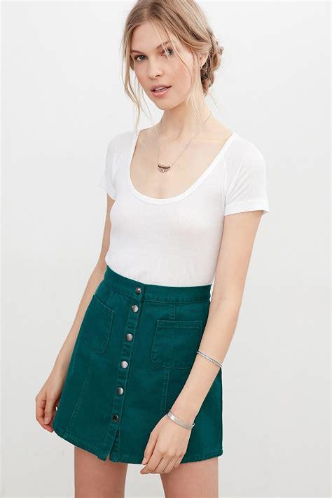 Button Front A Line Skirt button front a line skirt redskirtz