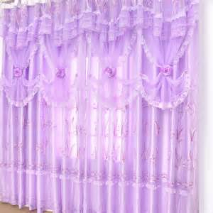 romantic purple lace lavender curtains in dreamy style