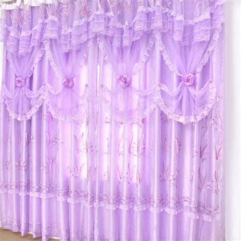 lavender curtains romantic purple lace lavender curtains in dreamy style