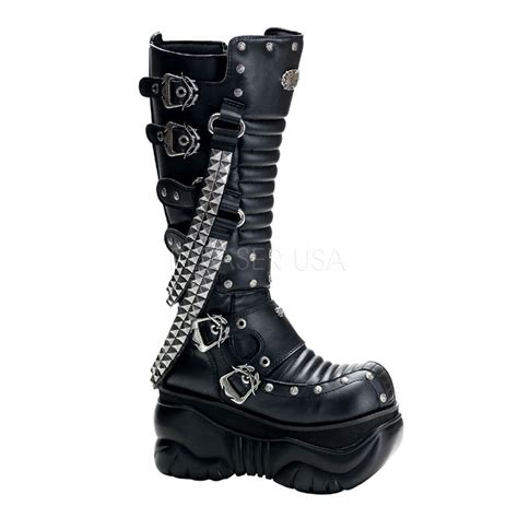 demonia platform boots demonia boxer 206 platform boots black