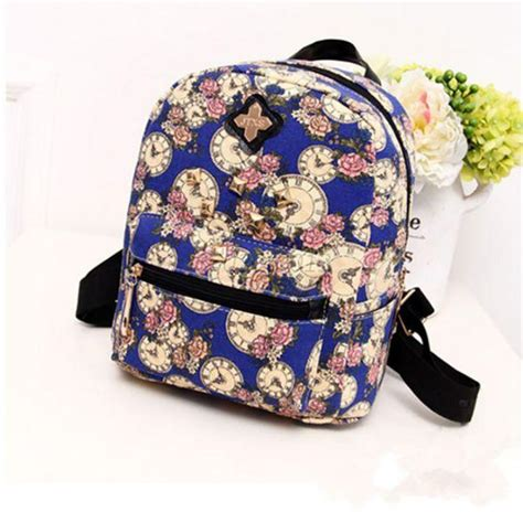 flower pattern backpacks floral pattern lady girl school bag canvas flower mini