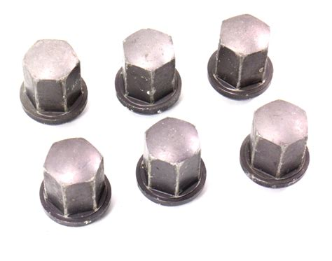 1985 Porsche 944 Set Of 6 Aluminum Lug Nuts Genuine