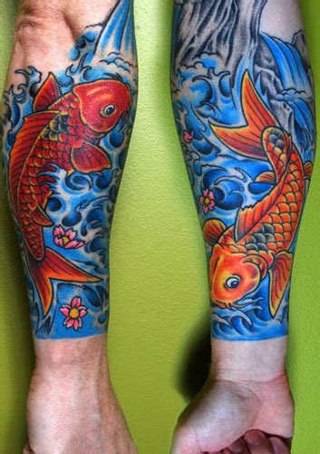 koi sleeve work in progress front and back of my