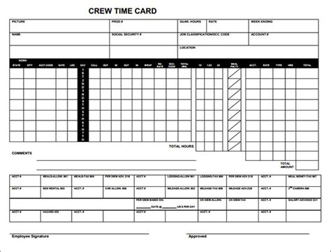 Production Time Card Template by Time Card Exles Pictures To Pin On Pinsdaddy