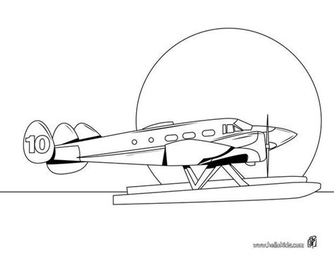water plane coloring page sea plane coloring pages hellokids com