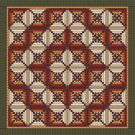 Size Log Cabin Quilt Pattern by Ohio In Log Cabin King Size By Judit Hajdu Craftsy