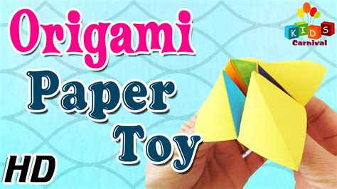 How To Make Toys With Paper - origami paper learn how to make with easy