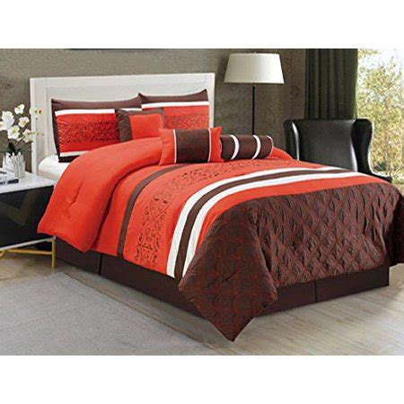 king size bed in a bag orange comforter set 7 comforter set blue orange reversible bed in a bag with accent pillow prestige