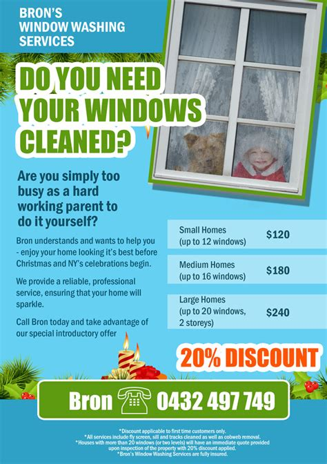 leaflet design for cleaning flyer design for bronwyn marshall by mila creativemotions