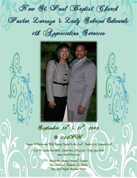 themes of the wife s story pastor and wife 4th appreciation service by new st paul
