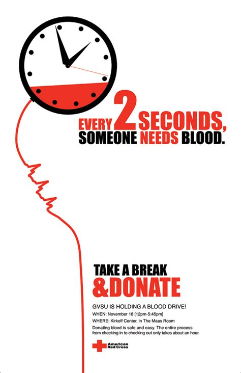 poster design blood donation bold typeface yet again using colour to highlight the