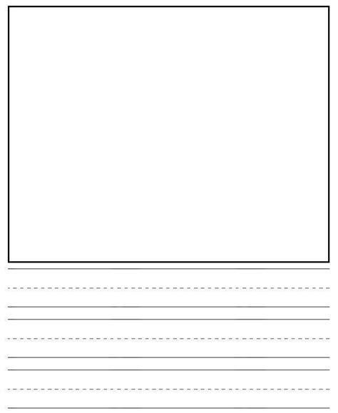 printable kindergarten writing paper with picture box letter writing templates for kindergarten docoments ojazlink