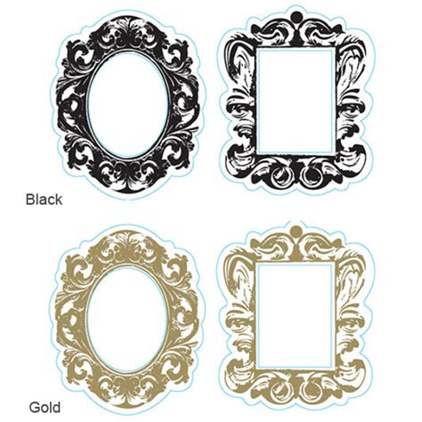 Paper Frames - baroque paper frames with easel 2 pcs place card