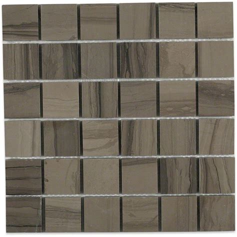 2x2 Floor Tile by Splashback Tile Athens Gray 2x2 Mesh Mounted Squares 12