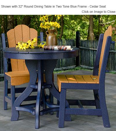 poly outdoor furniture round patio dining table outdoor