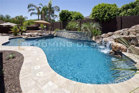 swan pools custom designs desert pool positioning determining landscape design