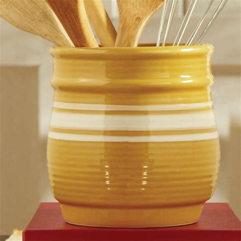 yellow kitchen utensil holder yelloware crockery gorgeous
