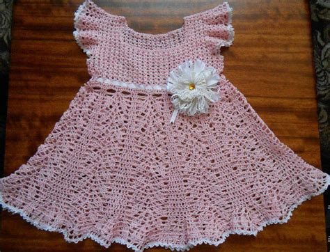 Handmade Baby Dresses - crochet trico on crochet dresses