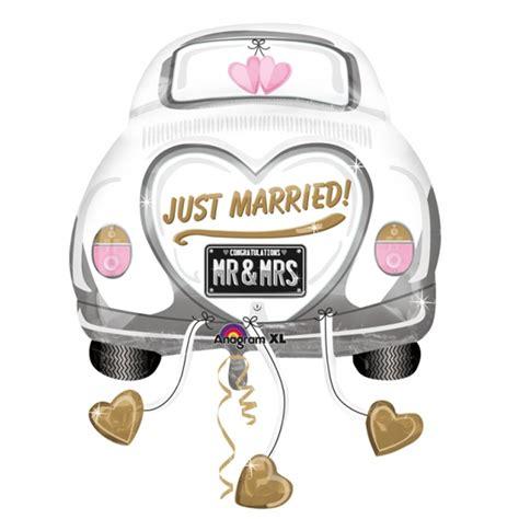 hochzeitsgeschenk fã r eltern 5 x just married wedding car supershape foil balloon xl dreemway