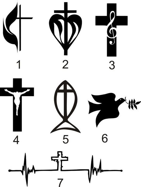 christian symbol tattoo designs top 25 best christian symbols ideas on