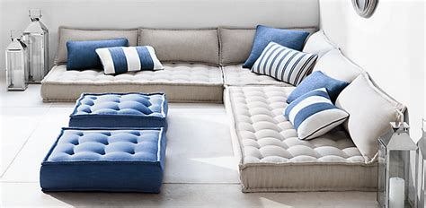 floor pillow sofa tufted floor cushions rh