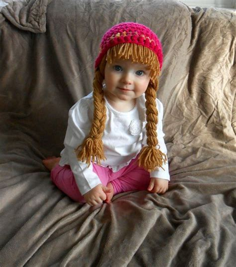 ponytails for cabbage patch hats baby hat cabbage patch hat pigtail wig costume photo props