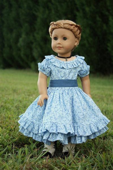 summer  blue dress   doll clothes pattern