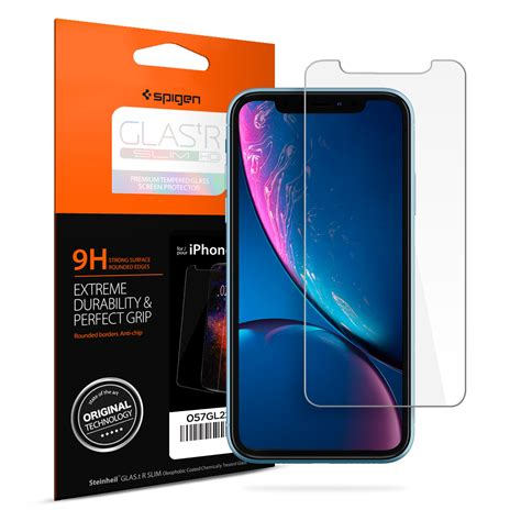 iphone xr screen protector glas tr slim hd spigen inc
