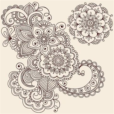 paisley doodle ideas intricate abstract flowers and mandala mehndi