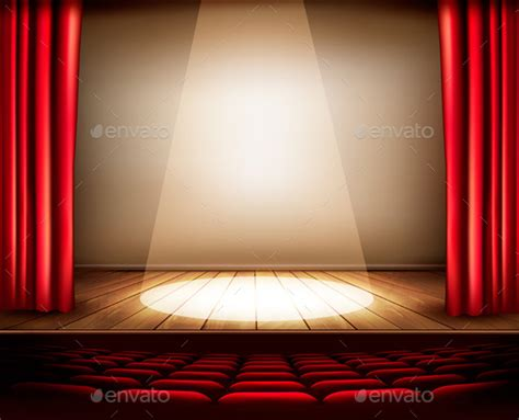 powerpoint templates stage light a theater stage with a red curtain seats graphicriver