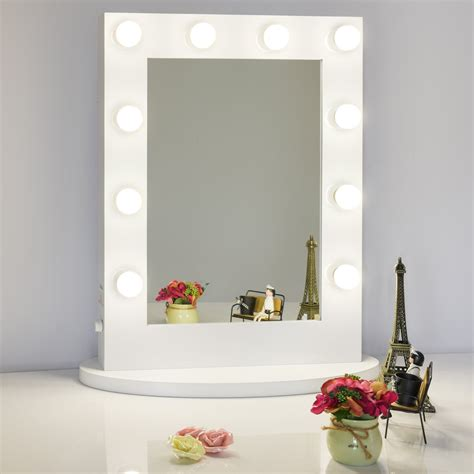 lighted led dimmer switch chende white tabletops lighted makeup mirror