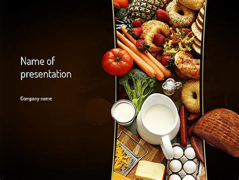 Plenty Of Food Presentation Template For Powerpoint And Keynote Ppt Star Food Powerpoint Templates