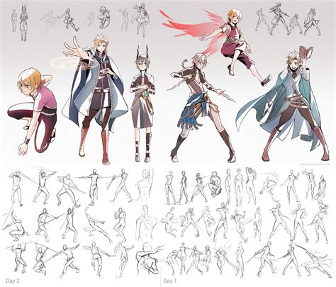 Pose Cooler poses and character practice by goku no baka on deviantart