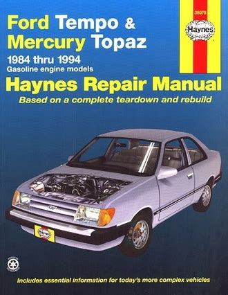old cars and repair manuals free 1984 ford bronco ii navigation system ford tempo mercury topaz repair manual 1984 1994 haynes