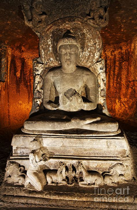 Home Decor Blogs India buddha statue in ajanta caves photograph by robert preston