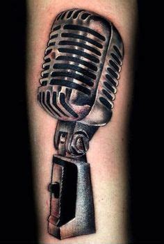 tattoo de microphone music note and microphone tattoo sketch tattoos bands