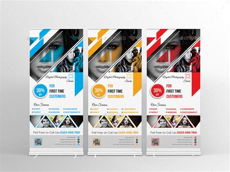 Photography Banner Template photography roll up banner template on behance