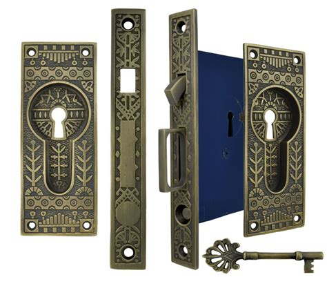 pattern lock door vintage hardware lighting windsor pattern single
