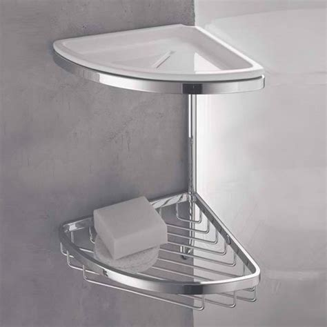 vaschetta doccia angolare doppio per doccia con cestino vaschetta e gancio