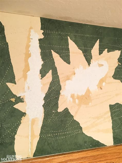 green wallpaper remover how to easily remove wallpaper living solutions blog