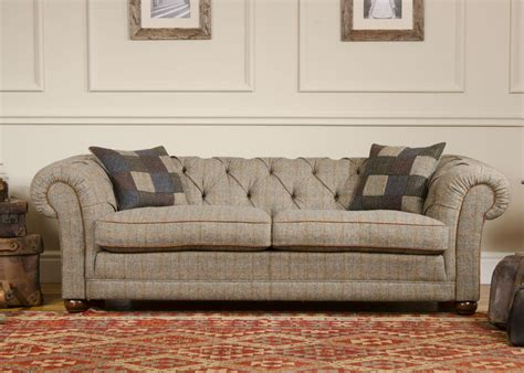 Tweed Fabric Sofa by Tetrad Harris Tweed Castlebay Sofa From George Tannahill