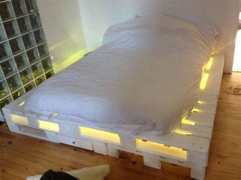 bed with pallets pallet bed with lights and drawers 99 pallets