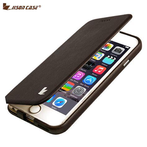 Casing Poli Smartphone Iphone 6 jisoncase capa for iphone 6 6s fundas phone stand luxury leather folding folio protective