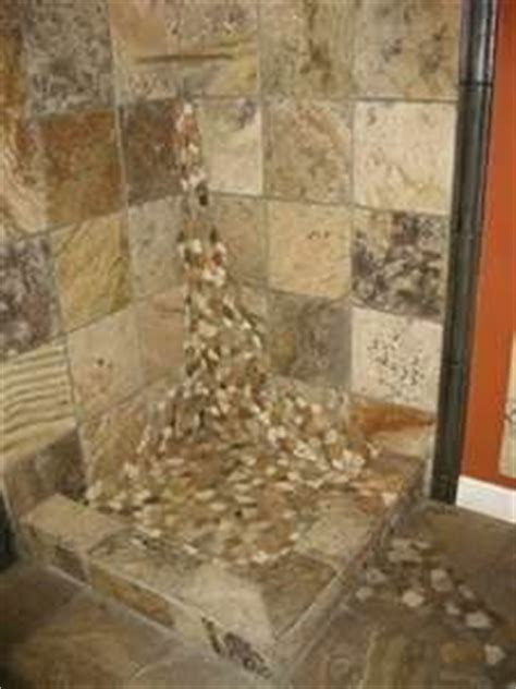 Bathroom Rock Tile Ideas 1000 Images About Cabin Shower Ideas On River