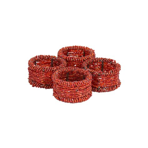beaded serviette rings beaded napkin rings set of 4 fast delivery tableking