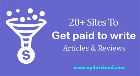 Reviews Paid Writing by 20 To Get Paid To Write Articles And Reviews Updateland
