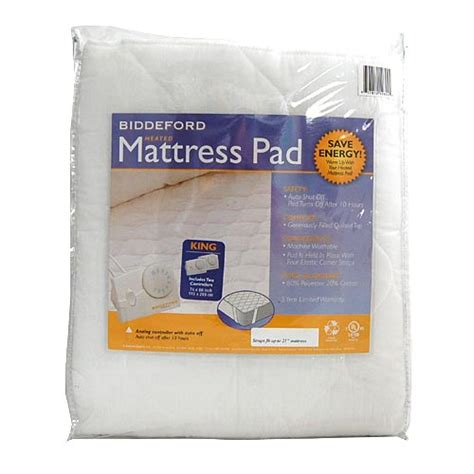 biddeford king quilted electric heated mattress pad ebay